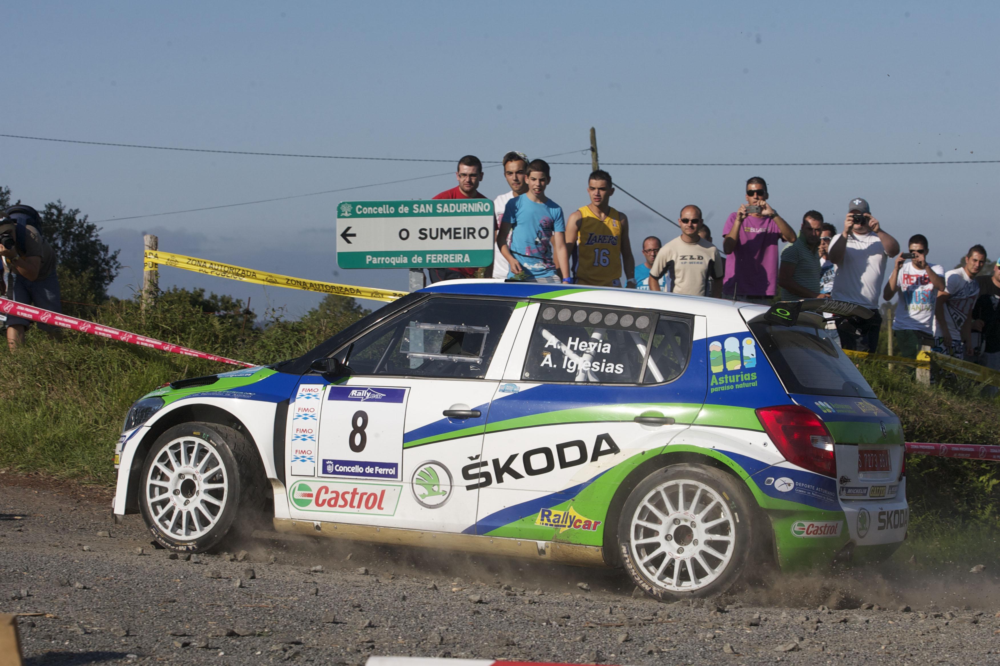 Alberto Hevia lidera la primera sección del 42 Rallye de Ferrol - Hankook