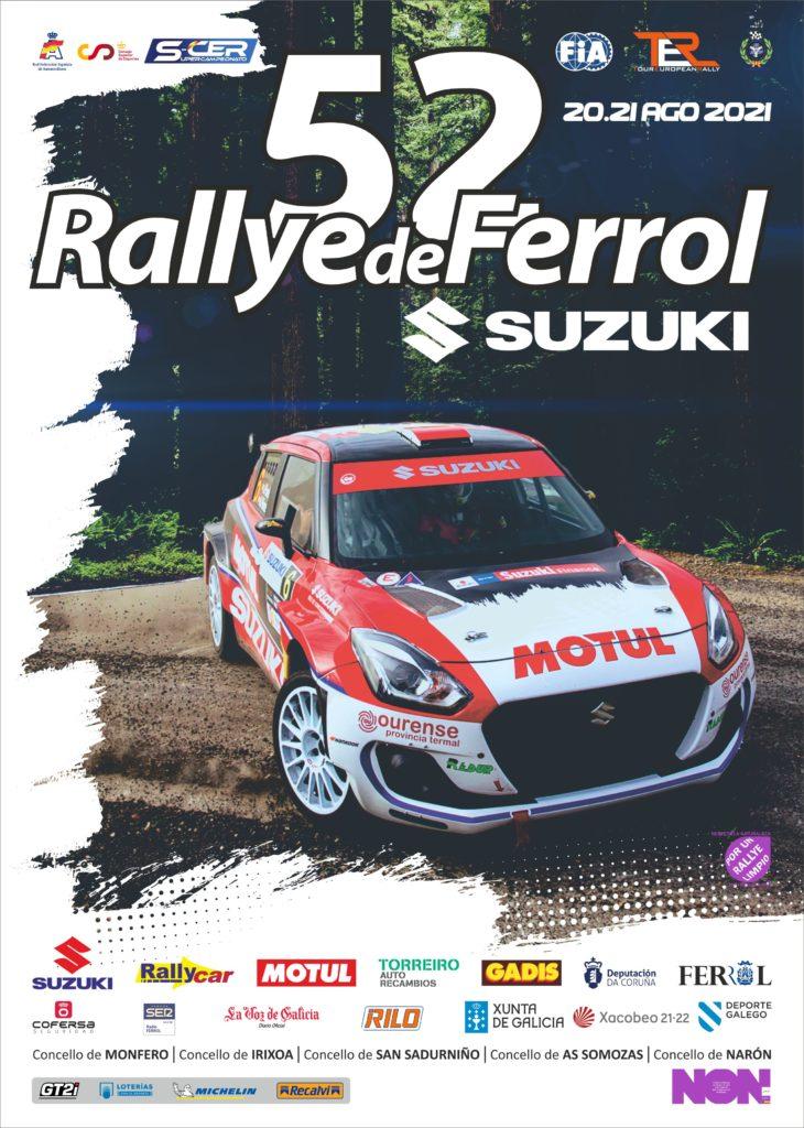 SCER + TER: 52º Rallye de Ferrol - Suzuki [20-21 Agosto] Cartel-52-Rallye-de-Ferrol-Suzuki_LR-730x1024